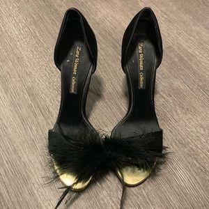 [Zara] Black Feather Heels